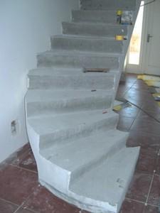 Renovace betonového schodiště