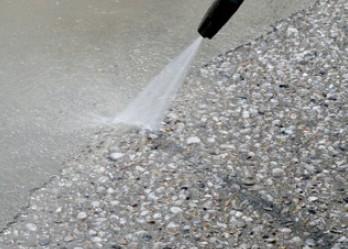 Vymývaný beton postup